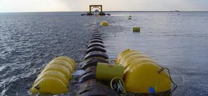 Строительство газопровода на дне Черного моря