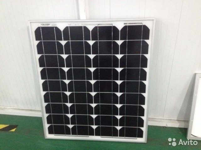 Походная солнечная электростанция на батареях