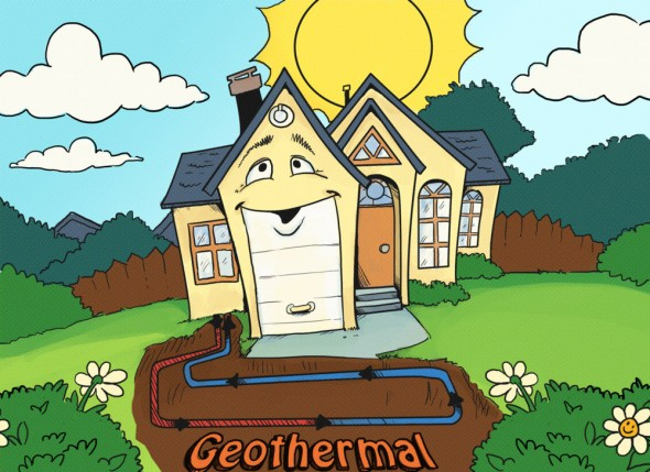 Установка геотермального отопления для дома