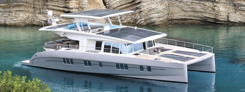 Инновационная яхта Silent Yachts полностью работающая от солнечной энергии